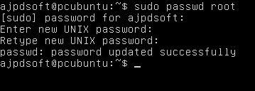 Cambiar contraseña para el superusuario root en Linux Ubuntu Server