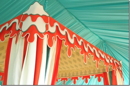 Bespoke tent and valance design by Boutique Tents | Designed for Calder Clark | Photo by A. Bryan