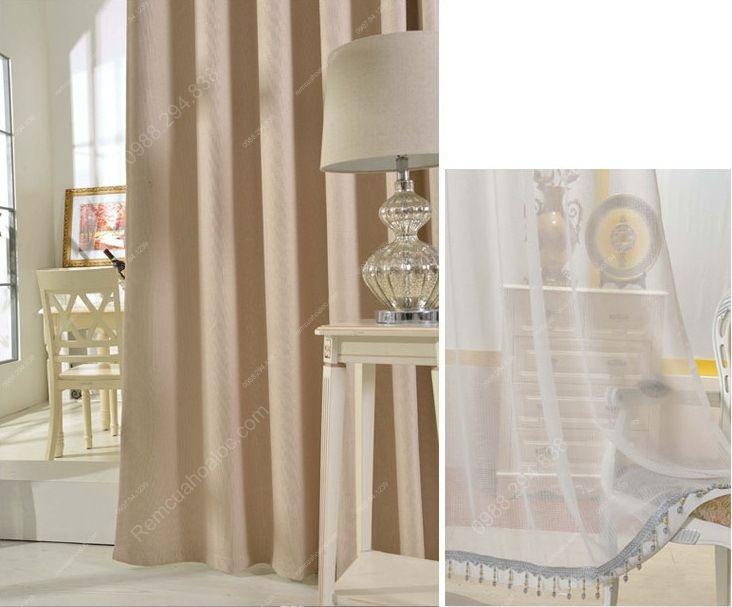 Rèm cửa đẹp hà nội một màu hiện đại 14