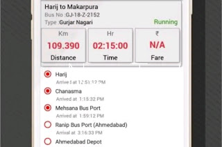 Real time bus tracking of GSRTC