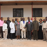 Our health center team with the Bishop and others.