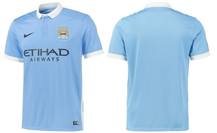 84168283943 The new home kit comes in with a traditional city sky blue colour with  white application which include a white polo slyle collar with bottons and  white ...