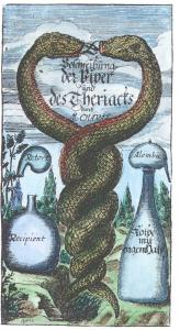 Engraved Frontispiece From Moses Charas Neu Erfahrne Proben Von Der Viper Frankfurt 1679, Alchemical And Hermetic Emblems 2