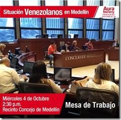 venezolanos mesa de trabajo