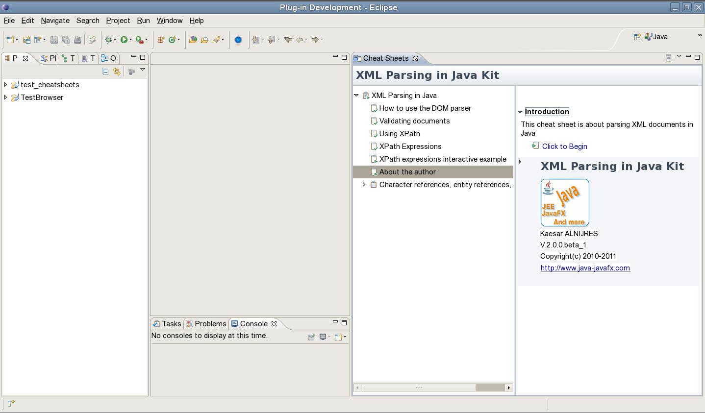 Jcafe Info Xml Parsing In Java Kit Eclipse Plug In