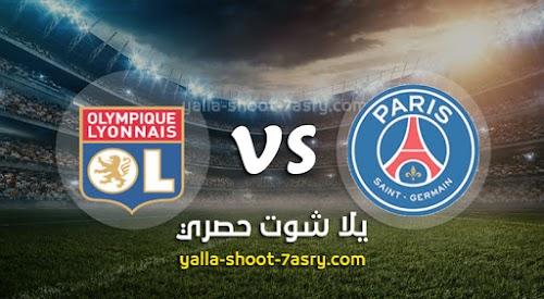 نتيجة مباراة باريس سان جيرمان وليون اليوم 31-07-2020 كأس الرابطة الفرنسية