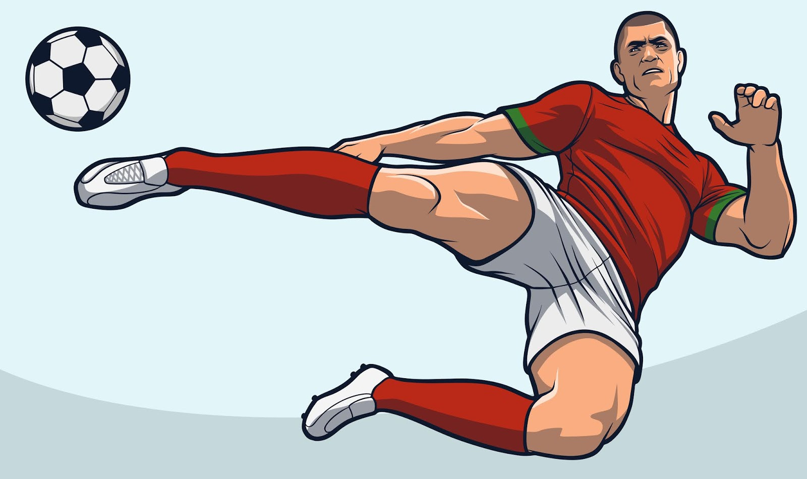 Soccer Player Scissor Kick Free Download Vector CDR, AI, EPS and PNG Formats