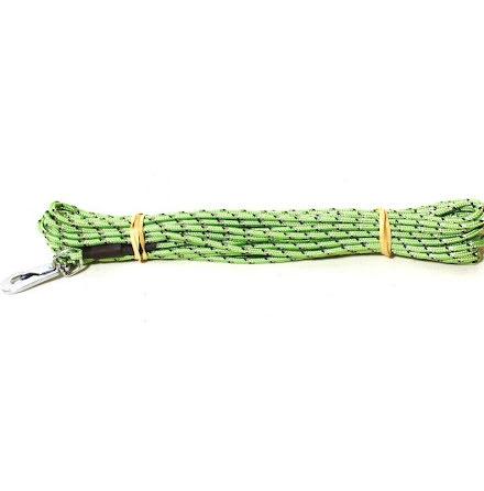 Spårlina rund flätad  nylon med reflex 4 mm x 15 m