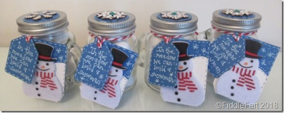 snowman snowball favour jars candy jars