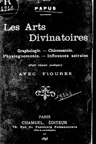 Cover of Papus's Book Les Arts Divinatoires (1895,in French)