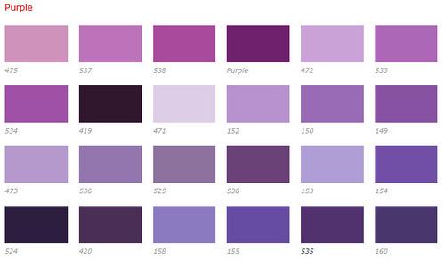 Color Chart Purple