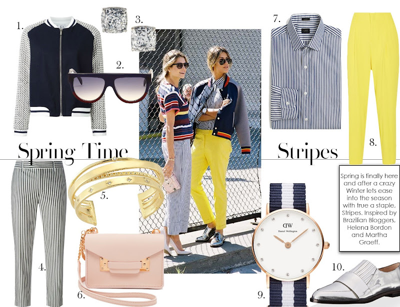Spring Time Stripes, Inspired by Brazilian Bloggers, Helena Bordon and Martha Graeff.
