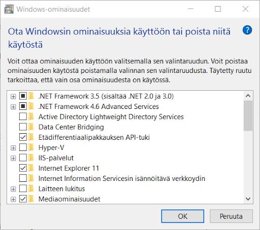 """Kaikki eivät välttämättä tiedä että Windowsiin voi asentaa ylimääräisiä sovelluksia sekä toimintoja """"Ohjelmat ja toiminnot"""" -ohjauspaneeli sovelluksen kautta."""