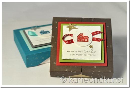 Weihnachtliche Split-Top-Box