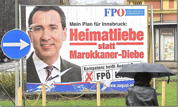 FPÖ Plakat Marokkanerdiebe