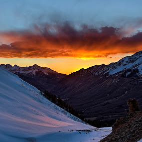 Silverton Sunset by Jamie Link - Landscapes Mountains & Hills ( mountains, sunset, snow, jamie link, colorado, landscape photography, pink sunset, landscape, silverton )