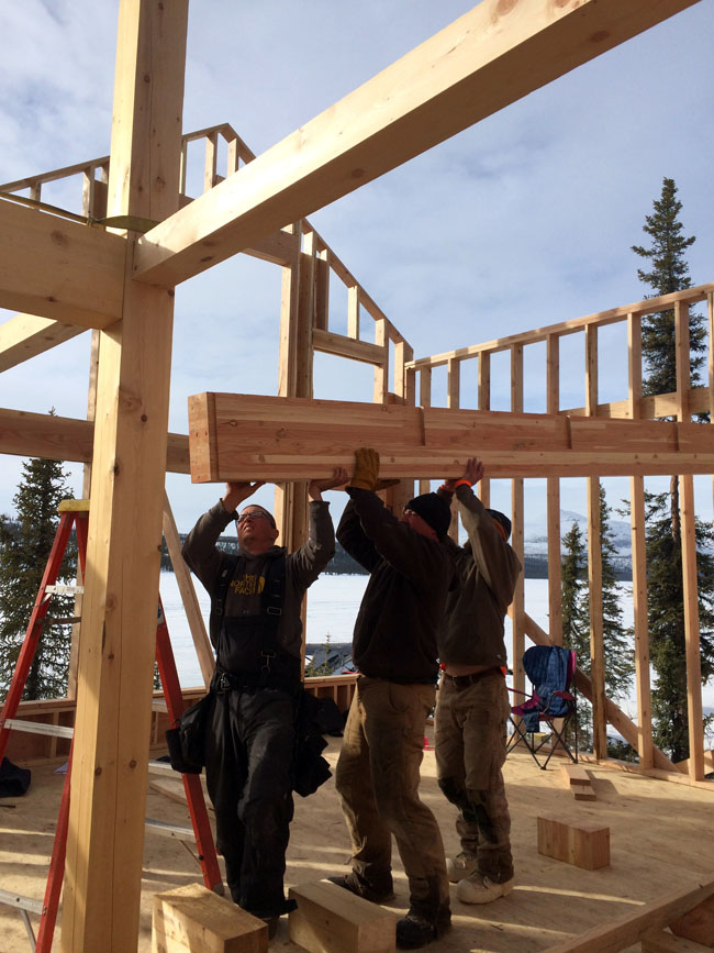 Building Our Cabin Timber Framing For Upstairs Loft