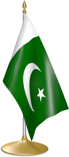 Pakistani table flags - desk flags