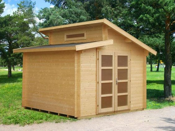 Solid Nordic Spruce Wood Shed