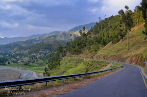 Refreshing road in Mansehra Distt