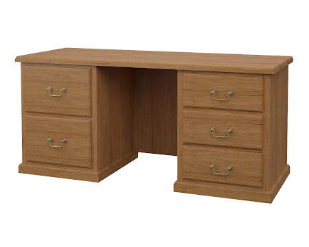 York Executive Desk in Calhoun Maple