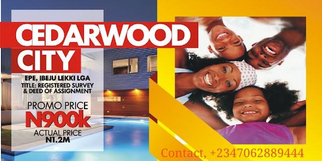 CEDARWOOD CITY, EPE, LAGOS (LAND FOR SALE)
