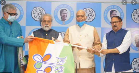 Yashwanth Sinha joins TMC   ಪ.ಬಂಗಾಳ ಚುನಾವಣೆಗೆ ಹೊಸ ಖದರ್: ಮೋದಿ ಟೀಕಾಕಾರ ಯಶ್ವಂತ್ ಸಿನ್ಹ ತೃಣಮೂಲ ಸೇರ್ಪಡೆ