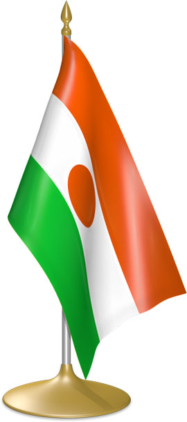 Nigerien table flags - desk flags