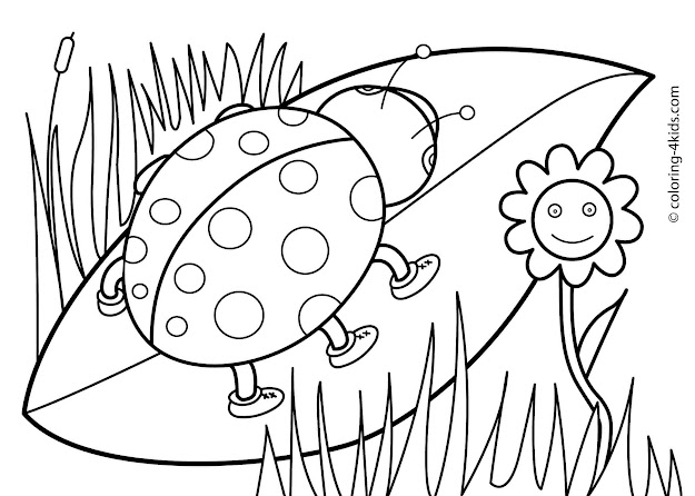 Spring Coloring Pages Free Printable