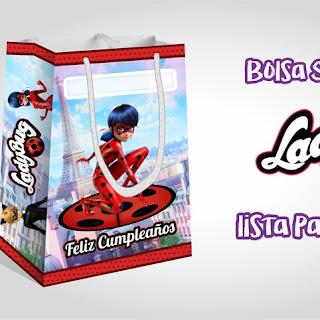 Imprimibles: Bolsa Sorpresa de LadyBug Personalizados