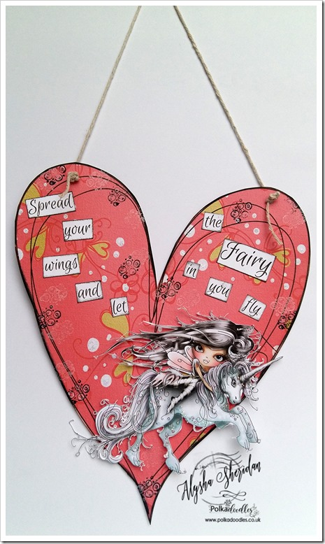 heart decoration using Octavcia Character and Little Kingdom Paper