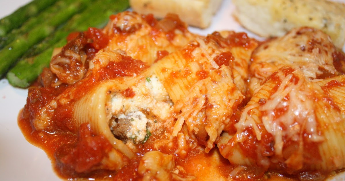 Read It & Eat: Three Cheese-Stuffed Shells with Meaty ...