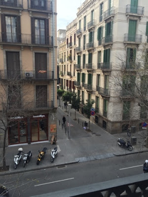 Balcony view of Barcelona