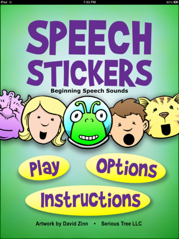 SpeechStickers Menu