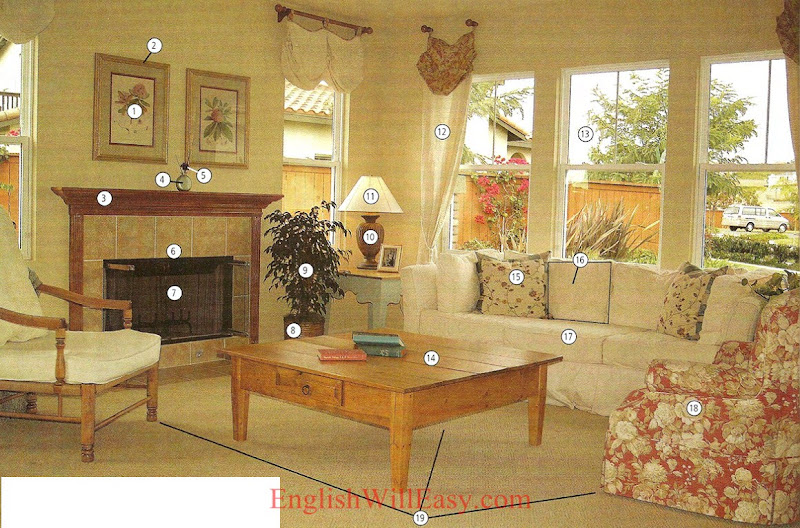 Living room  Housing   Photo Dictionary. LIVING ROOM   Dictionary for Kids