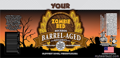 North Country Brewing - Zombie Bed Bourbon Barrel-Aged Barleywine & 95 Nails Lager Cans