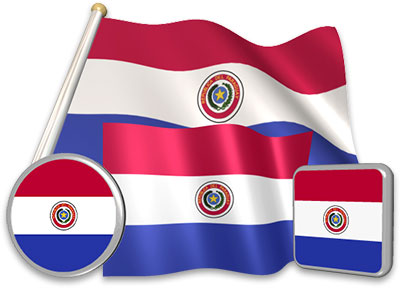 Paraguayan flag animated gif collection