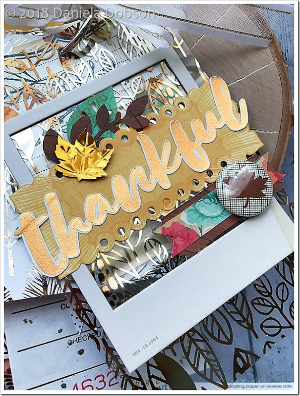 Thanful mini album page 1 by Daniela Dobson