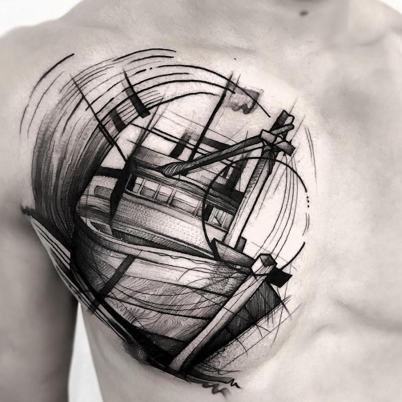 este_maravilhoso_esboço_estilo_de_tatuagem