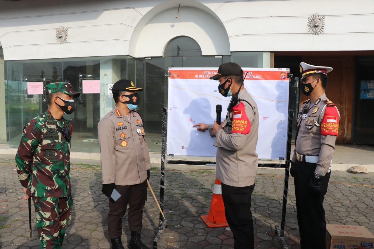 Kodim 0510/Trs Apel Gabungan Pengamanan aksi unras  Massa Buruh yang akan ke Serang DPRD Provinsi Banten