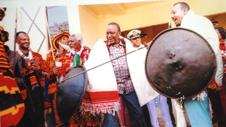 President Uhuru Kenyatta when he visited Ethiopia