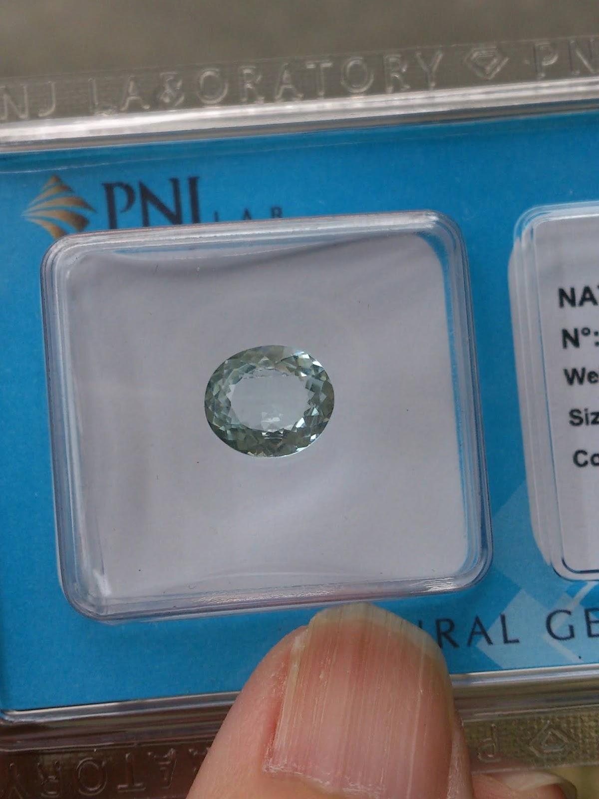 Đá quý Ngọc Lam Biển thiên nhiên, Natural Aquamarine đã kiểm định PNJ