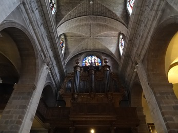 2018.07.01-048 buffet d'orgues dans la basilique Saint-Sauveur
