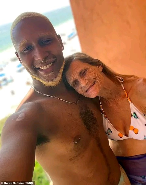 24-year-old Quran McCain has accepted and engaged to his 64-year-old lover, Cheryl McGregor photo