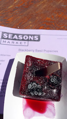 New Seasons Market did a demonstration of Blackberry Basil Popsicles at the Oregon Berry Festival 2015
