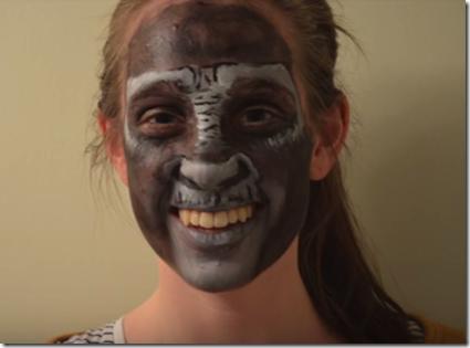 Maquillaje de gorila