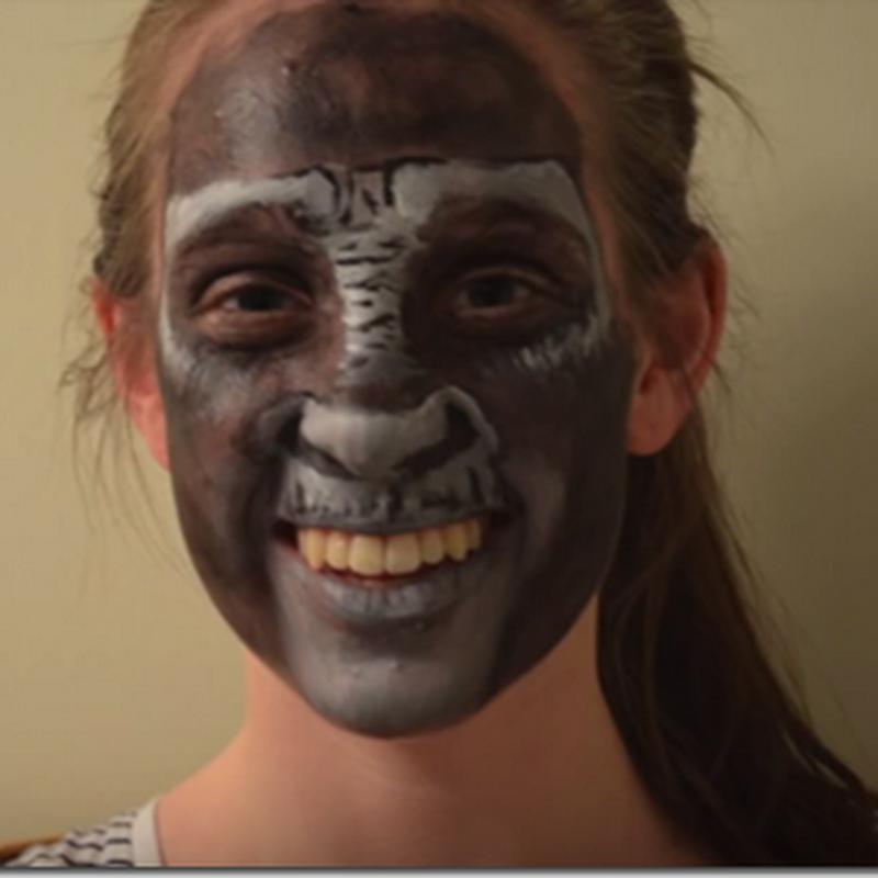Como hacer un maquillaje de gorila