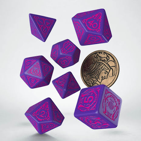 The Witcher Dice Set. Dandelion - The Conqueror of Hearts