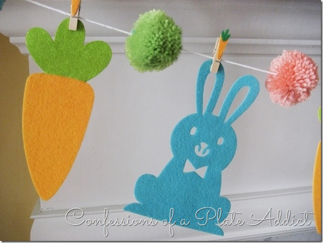 CONFESSIONS OF A PLATE ADDICT Easy Bunny and Carrot Garland