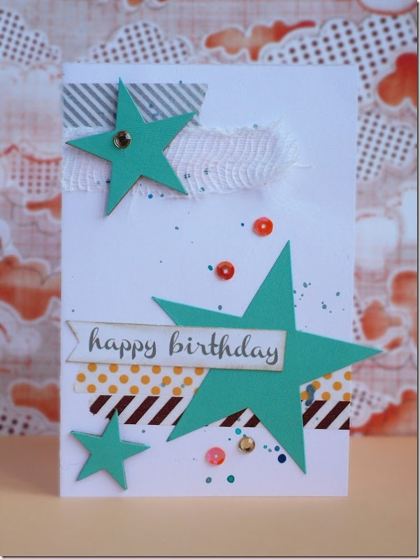 cafe creativo - Anna Draicchio - sizzix big shot - five minute card - stars (1)